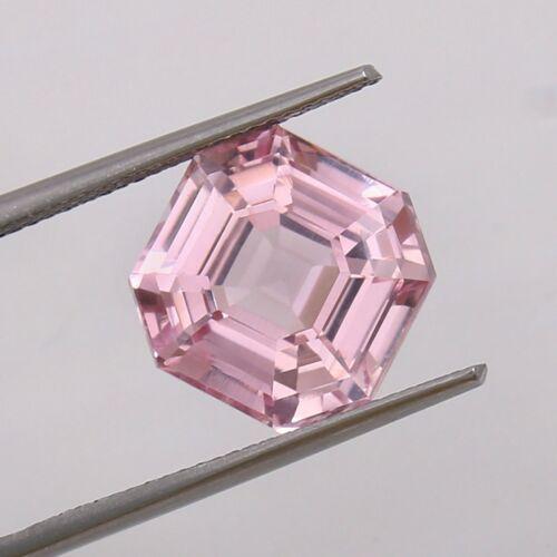 10.50 Ct Natural Flawless Mozambique Pink Morganite Asscher Cut Loose Gemstone