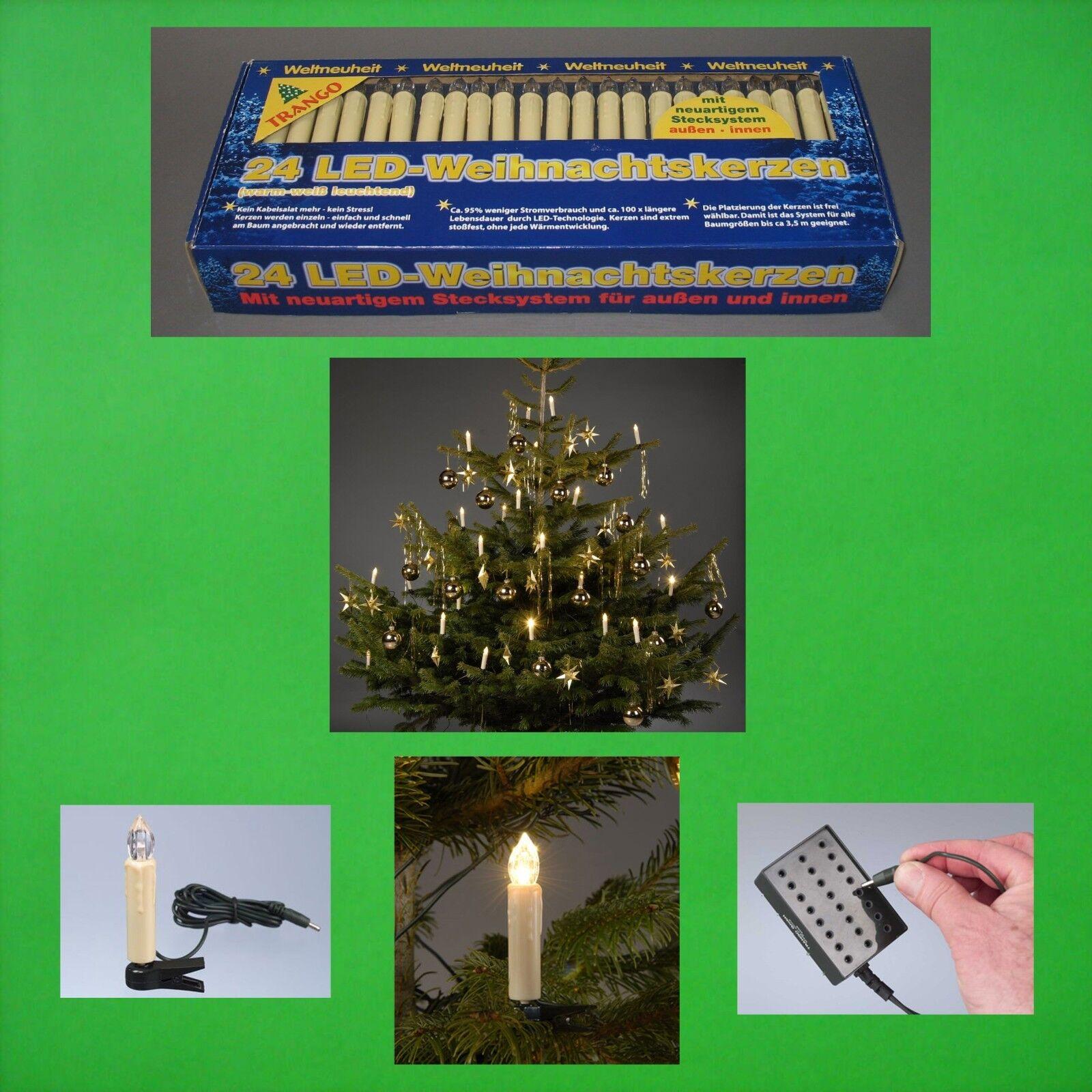 PORTATO ALL'aperto LUCI A CATENA bianco caldo albero di Natale candele per ha
