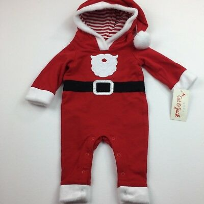 Cat & Jack Christmas Infant Christmas Santa Suit One Piece Red Baby Boys Size - Infant Santa Suit