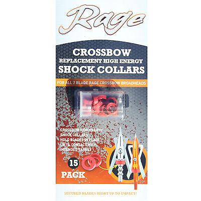 Rage Crossbow Shock Collar High Energy 15 Pack Broadheads #01173
