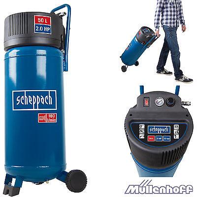 Scheppach HC50V Kompressor - 1.50 kW - 50l - max. 10 bar, 2 PS, Ölfrei, fahrbar