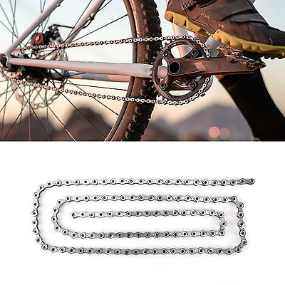 10 Speed Mountain MTB Road Bike Bicycle Chain Steel 114 Links with 2 Join Links 10 Speed Road Chain