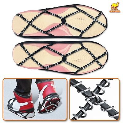 Walking on Snow Ice Walk Traction Cleats Crampons Winter for Shoes Size 39 to 49