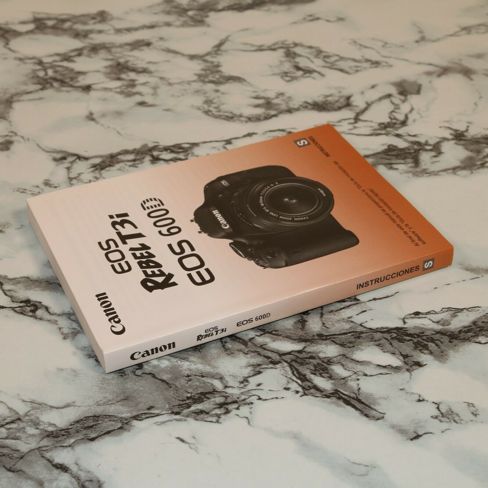 Canon EOS Rebel T3i 600D Camera Spanish Owner s Manual Instruction Guide Book - $11.18