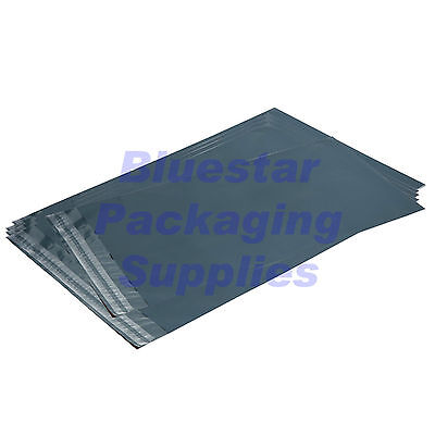 100 Grey Strong Plastic Poly Postage Mailing Bags 305 x 405mm ( 12 x 16