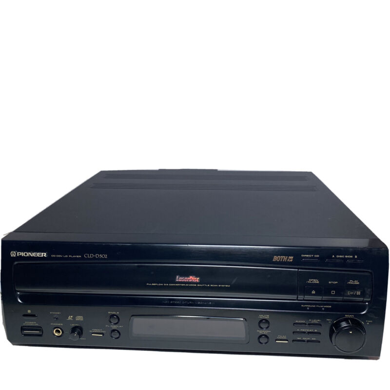 Pioneer CLD-D502 Dual Side Laserdisc Player No Remote - Tested and Working!