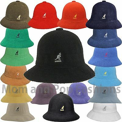 Authentic Kangol Bermuda Casual Bucket Hat Cap 0397BC S M L XL XXL Black White](White Bucket Hats)