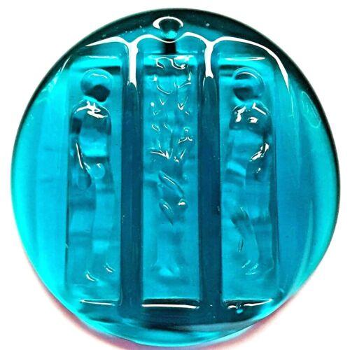 HOLMEGAARD SUNCATCHER Nude Adam Eve AZURE BLUE GLASS Eden Tree Life SWEDEN Wall
