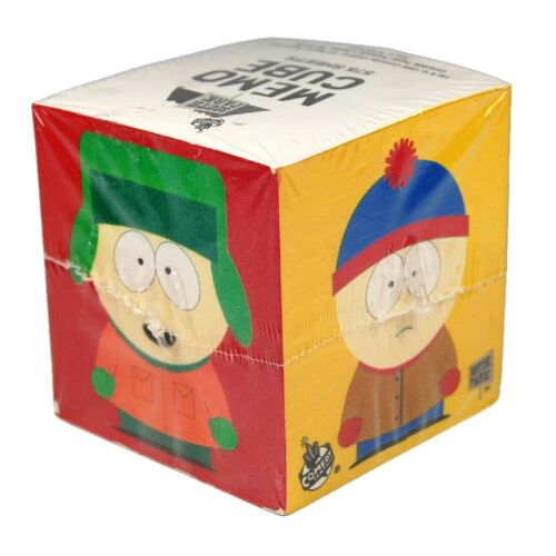 Vintage 1998 South Park Memo Cube Notepad New Sealed
