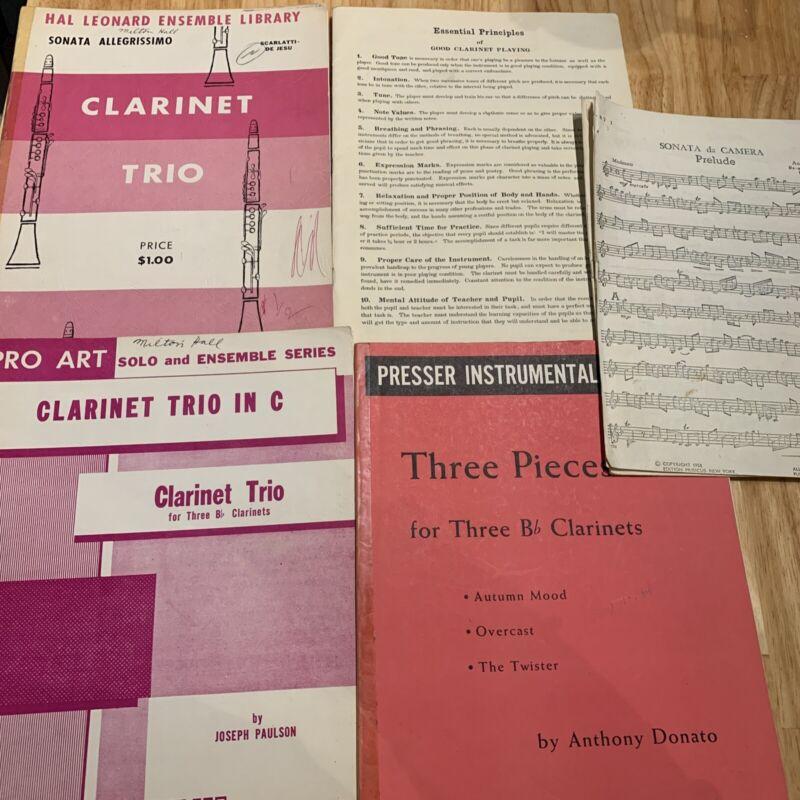 MUSIC SHEET•Clarinet•Lot 5