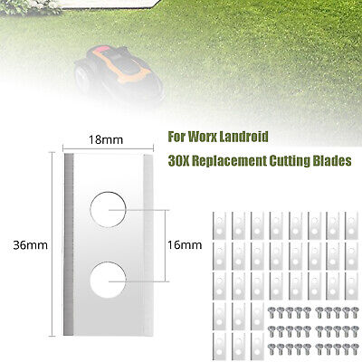 30X Cuchilla de Repuesto de Tornillo Cortacésped Accesorios Para Worx Landroid