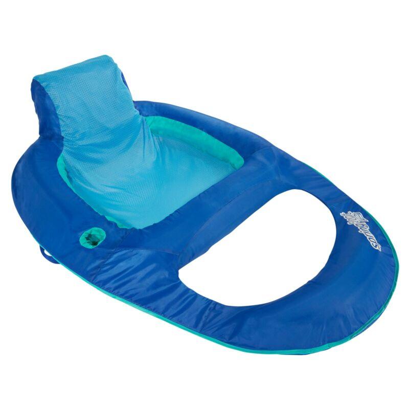 Swimways Spring Float Recliner, Blue 1080662
