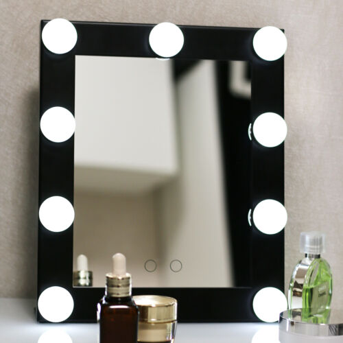 vanity lighted hollywood makeup mirrors with dimmer stage beauty mirror led bulb ebay. Black Bedroom Furniture Sets. Home Design Ideas