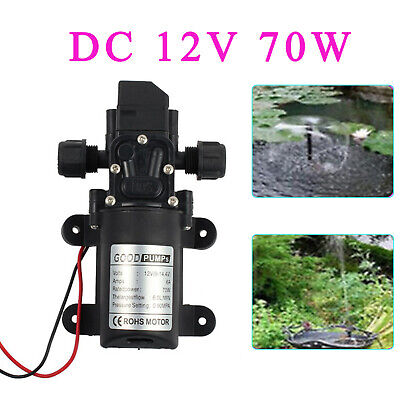 12v Water Pump 70w 130psi High Pressure Micro Diaphragm With Automatic Switch Us