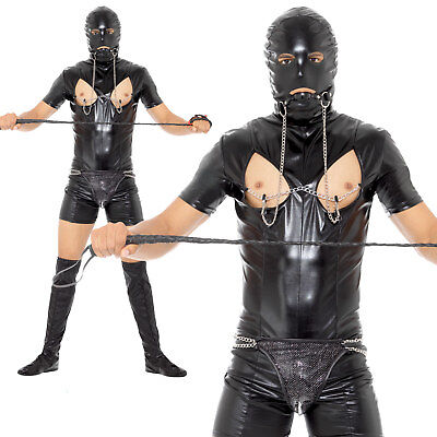 Bondage Gimp Costume Stag Do Funny Adult Mens Fancy Dress Outfit - Mens Funny Costumes