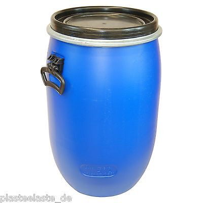 Deckelfass Regenfass Plastikbehälter mit Deckel Fass 60 L Weithalsfass (22095x1)