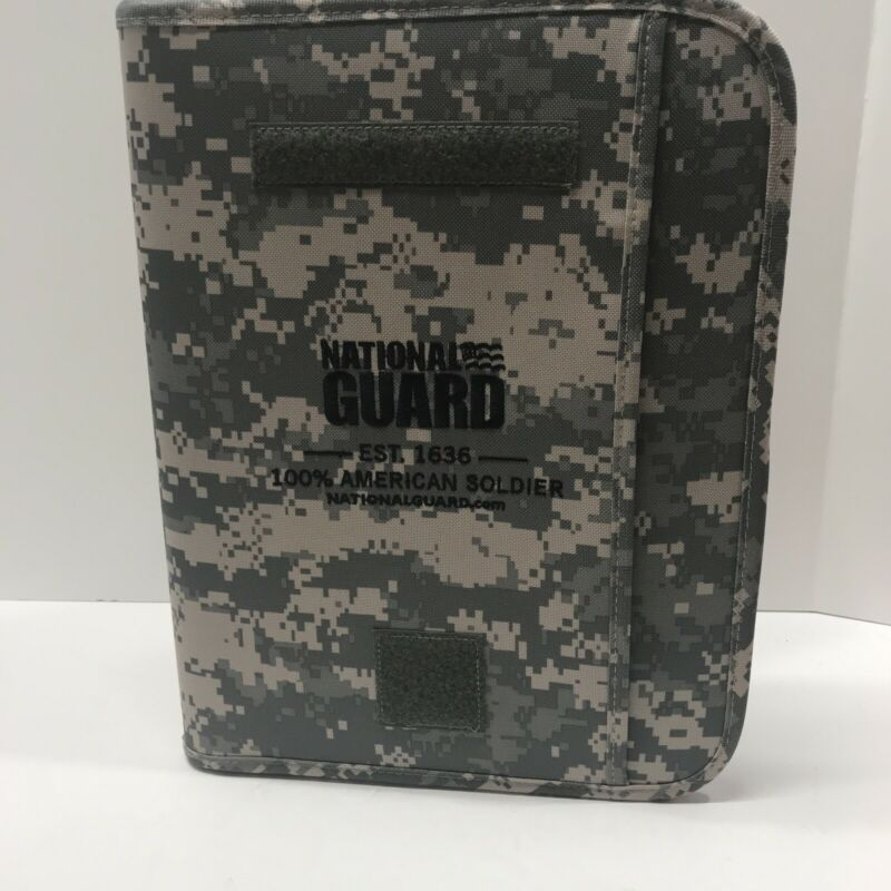 National Guard Planner What's 9 X 11 Paper And Pocket Zipper Digital camo