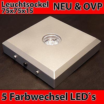 LED Leuchtsockel Farbig für 3D 2D Laser Fotos im Glaswürfel Geschenk Weihnachten