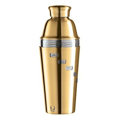 Halloween Cocktail Drinks Recipes (OGGI Mirror Dial-A-Drink Cocktail Shaker Titanium/Gold Plated Finish 15)