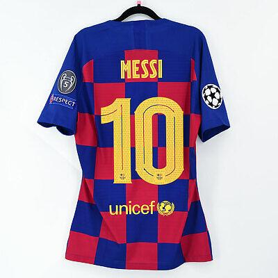 2019-20 Barcelona Player Issue Home Shirt #10 MESSI Champions Match Un Worn...