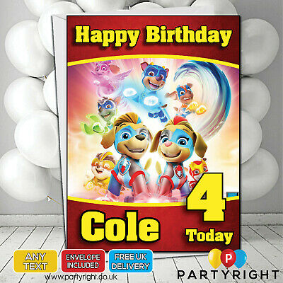 Personalised Paw Patrol Mighty Pups Group Kids Birthday Card • Your Name/Age](Paw Patrol Puppy Names)