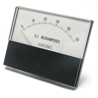 Analog Panel Meter 0 - 50 Microamperes Dc 4.5 Inch