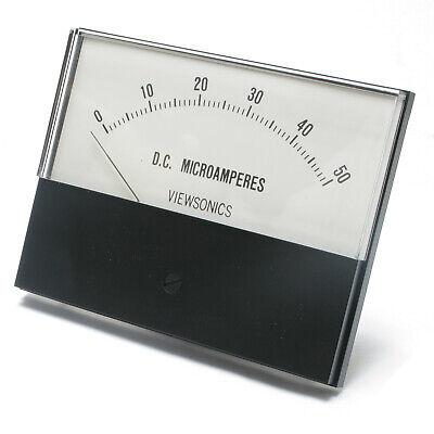 Analog Panel Meter 0 - 50 Microamperes Dc 4.5 Inch