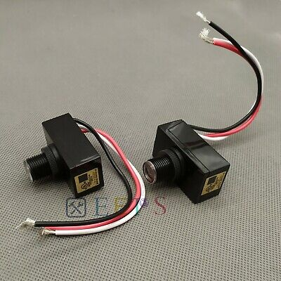 New Outdoor Electric Resistor Photocell Light Control Sensor Switch Jl103a 2pcs