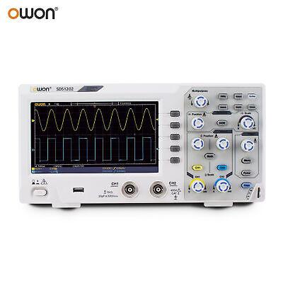 Owon Sds1202 Digital Storage Oscilloscope 2ch 200mhz 1gss Lcd Display Usb