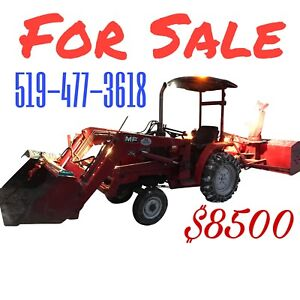 Massey tractor snowblower loader