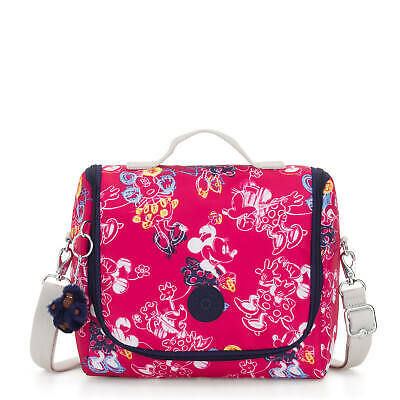 Kipling Disney's Minnie Mouse and Mickey Mouse Kichirou Lunch Bag Doodle Pink