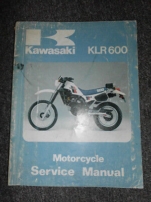 1984 Kawasaki KLR600 Service Repair Shop Manual OEM FACTORY FADED DAMAGED