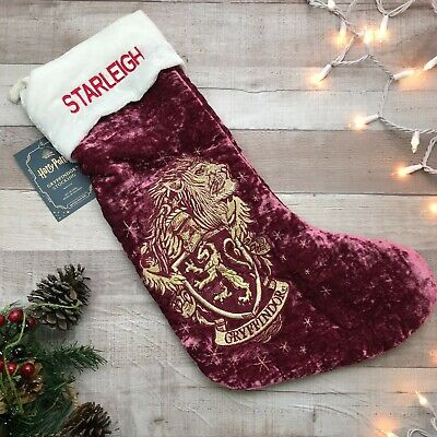 "NWT Pottery Barn Harry Potter Gryffindor Stocking ""Starleigh"""