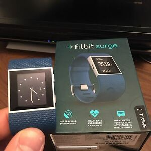 Fitbit Surge Smartwatch with Heart Rate - Small - Blue