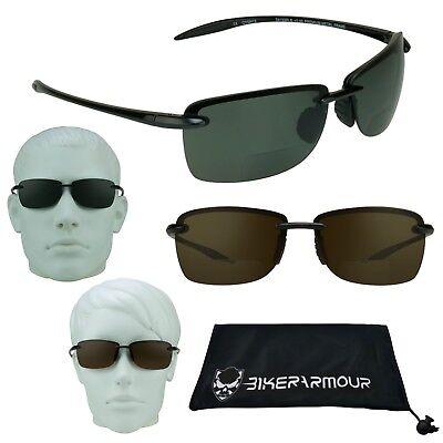 Polarisiert Bifokale Sonnenbrille Leser Rahmenlosen Fischen Golf Brille 1.5 -