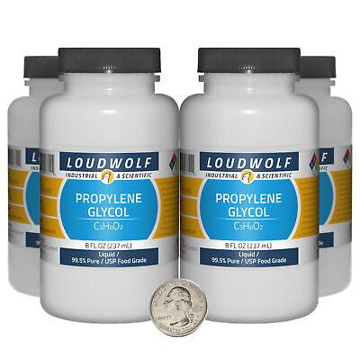 Propylene Glycol 32 Fl Oz 4 Bottles 99.5 Pure Usp Food Grade Liquid