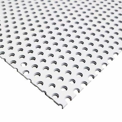 White Painted Aluminum Perforated Sheet 0.040 X 12 X 24 0.100 Hole