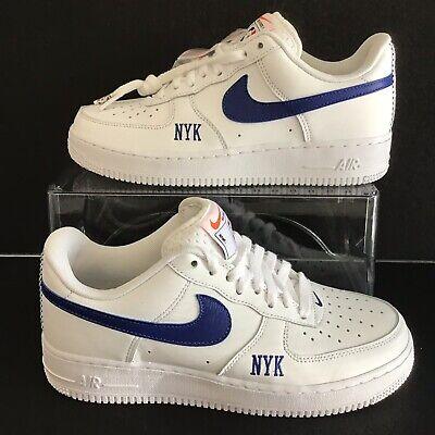 3f86f36384 Nike iD Air Force 1 Low Premium NBA New York Knicks White Sz.7.5  (AQ4004-993)