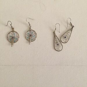 Two pairs of dream catcher earrings