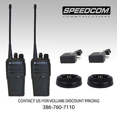 2x Motorola Cp200d Digital Uhf 16ch Two Way Radio Thick Battery Charger