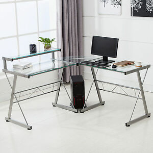 modern glass computer desk ebay