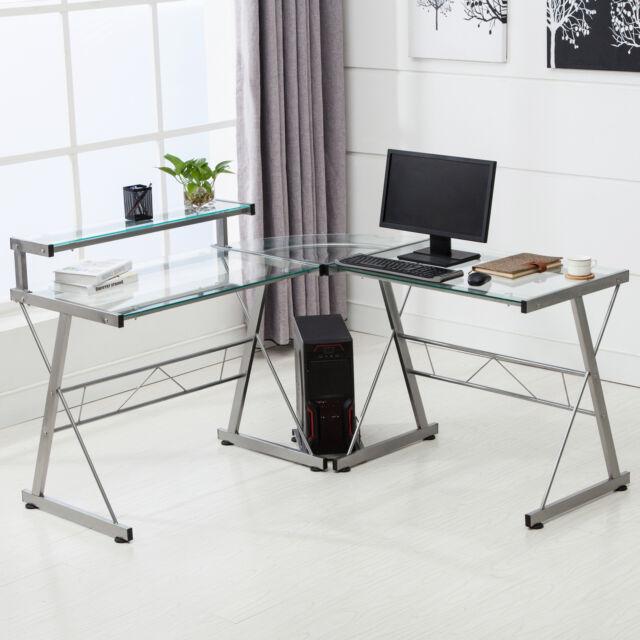 Home Office Glass Desk glass desk | ebay