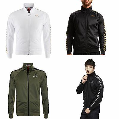 Slim Zip Fleece (Kappa Anniston Slim 222 Banda Full Zip Fleece Track Top Jacket White Black Green)