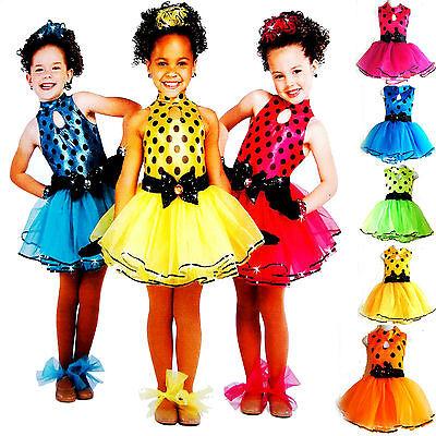 Mini Dot TUTU Kleid für Kinder Mädchen Kostüm/Fasching/Cosplay Dress ab 98-170