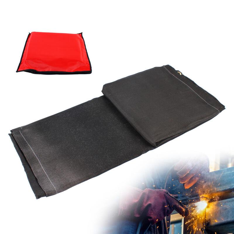 Black 6x10 Ft Heavy Duty Fire Flame Retardant Fiberglass Welding Blanket USA