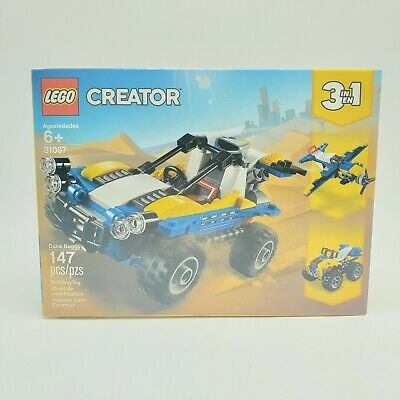 LEGO Creator 3in1 Dune Buggy Plane Quad Bike 31087 147 Piece Building Toy Age 6+