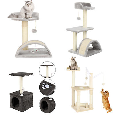 Cat Tree Scratching Post Climbing Activity Centre Sisal Toys Bed Scratcher Tower