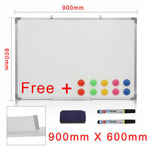 OFFICE SCHOOL MAGNETIC DRY WIPE WHITEBOARD DRAWING MEMO NOTICE BOARD PEN &ERASER