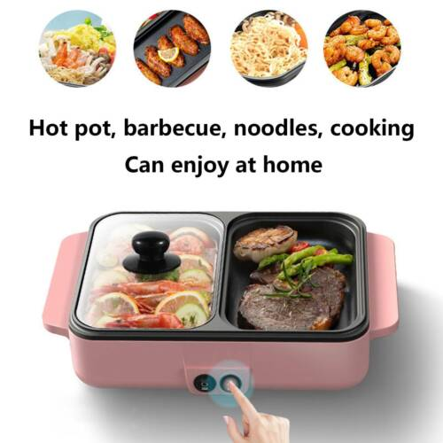 2 in 1 electric hot pot barbecue