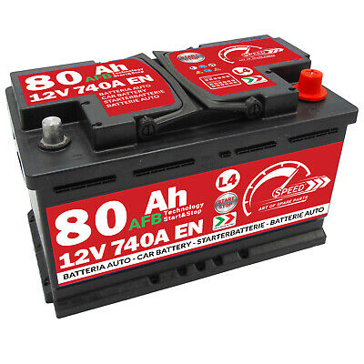 Autobatterie Speed 12V 80Ah 740A Start Stop EFB Starterbatterie AFB